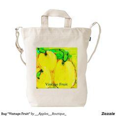 """Bag """"Vintage Fruit"""" Duck Canvas Bag"""