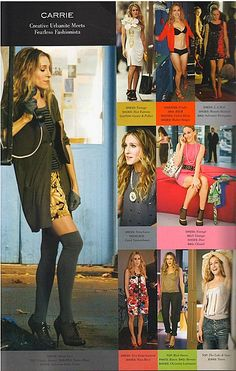 Carrie Bradshaw Look Book : Sex and the city outfits : MartaBarcelonaStyle's Blog