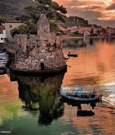 View top-quality stock photos of Nafpaktos Fishing Boats At Sunrise. Find premium, high-resolution stock photography at Getty Images. What A Wonderful World, Beautiful World, Beautiful Places, Beautiful Artwork, Places To Travel, Places To Visit, Myconos, Greece Pictures, Places In Greece