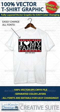 Family Reunion Vector T-shirt Graphic