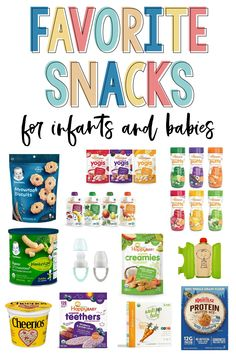 Do you feel like you're always on the lookout for new snacks for your infant or baby? These 12 Amazon must-have snack ideas will make life easy and have the best snack options on your doorstep in less than two days. These snacks are perfect for your 6-month-old or older! Even your toddler will enjoy these delicious and simple daily snack options for your children. Toddler Meals, Kids Meals, Toddler Stuff, Toddler Food, Kid Stuff, Baby Solid Food, Teething Biscuits, Baby Muffins, 5 Month Old Baby