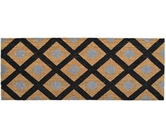 Honeycomb Black Long Doormat   Doormats Large And Small For A Beautiful Home