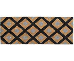 French Knot Doormat & Honeycomb Black Long Doormat · French ...