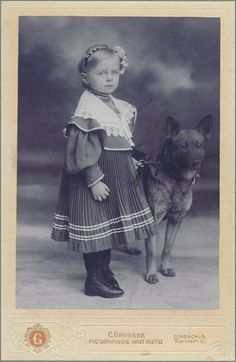 A Little Girl and her Dog from Limbach.