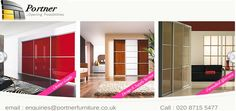Portner Furniture specializes in the supply of stylish sliding wardrobes, doors and bedroom furniture throughout the London UK. Exclusive range of sliding wardrobes!