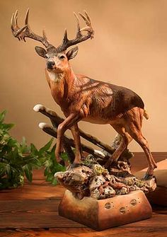 County Line Whitetail Deer Sculpture