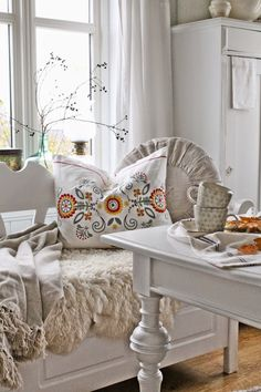 VIBEKE DESIGN. hmmm, wonder if this is Finnish-style design on that pillow.