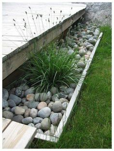 Landscaping With Rocks, Front Yard Landscaping, Landscaping Ideas, Mulch Landscaping, Landscaping Borders, Pergola Ideas, Diy Pergola, Small Gardens, Outdoor Gardens