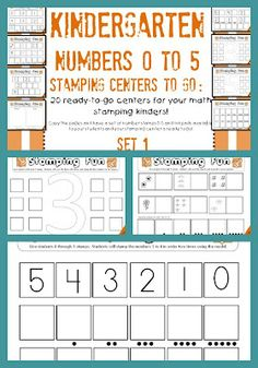 $5 for 20 math centers that focus on numbers to 5. great exploratory unit for stamps AND numbers.A Differentiated Kindergarten: Differentiated Math Stations For The Beginning of The Year and A Couple Of Freebies!