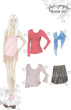 free people paper doll