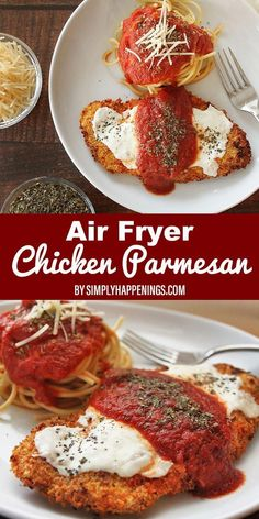 Curious how to cook chicken parmesan in the air fryer? This chicken parmesan rec. , Curious how to cook chicken parmesan in the air fryer? This chicken parmesan rec. Curious how to cook chicken parmesan in the air fryer? Air Fryer Recipes Breakfast, Air Fryer Oven Recipes, Air Fryer Dinner Recipes, Air Fryer Chicken Recipes, Recipe Chicken, Recipes Dinner, Chicken Parmesan Recipes, Healthy Chicken Recipes, Cooking Recipes