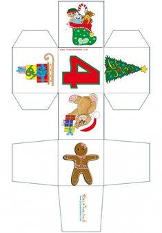 Printable Box, Free Printables, Cubes, Paper Toy, Motifs, Christmas, Word Search, Puzzles, Bags