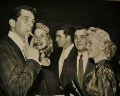 Dean Martin, Janet Leigh, Tony Curtis, and Jeanne Martin