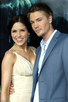 Former flame: Sophia was married to One Tree Hill co-star Chad Michael Murray for five months before their separation in September 2005. They are pictured together in April 2005, two weeks after their wedding