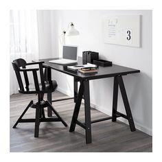 KLIMPEN / ODDVALD Table, black black 150x75 cm