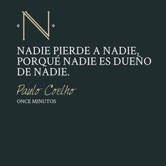 Pensamientos de María, protagonista del libro 'Once Minutos'
