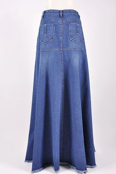 Cozy Casual Long Jean Skirt $48