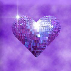 Purple Heart-shaped Glitter Ball