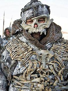Game of Thrones wildling bone armor, designer Michele Clapton Game Of Thrones Costumes, Hbo Game Of Thrones, Game Costumes, Costume Ideas, Ballet Costumes, Valar Morghulis, Game Of Thrones Wildlings, Bone Armor, Vikings