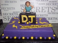 d.j cake