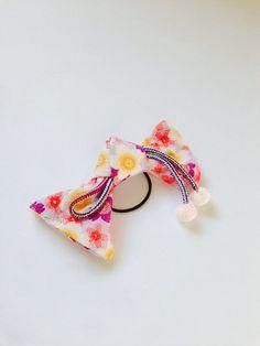 Bow elastic, Japanese Bow, Japanese fabric Bow, Japanese elastic, Sakura hair accessry, ponytai ribbon, FREE SHIPPING on Etsy, ¥957.45