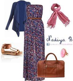 Love Nadiya B. It's so lovely! Arab Fashion, Muslim Fashion, Modest Fashion, Fashion Dresses, Modest Dresses, Modest Outfits, Maxi Outfits, Chic Outfits, Curvy Fashion Summer