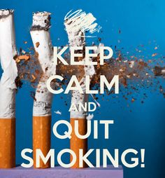 KEEP CALM AND QUIT SMOKING! Another original poster design created with the Keep Calm-o-matic. Buy this design or create your own original Keep Calm design now.