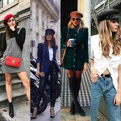 As boinas  voltaram fazendo a cabeça das fashionistas , virando febre no street style .Modernas elas têm inúmeras formas de usá-las para co...