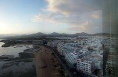 Lanzarote - Blick auf Arrecife vom Hotel Cafe aus