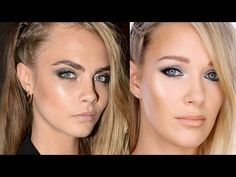 Cara Delevigne makeup tutorial by Lisa Eldrdge (looks a lot better than in the pic!!)
