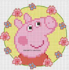 "Результат пошуку зображень за запитом ""free peppa Pig cross stitch Graphs patterns"""