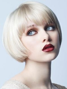 If I were to go platinum blonde again and have to get my hair cut, I'd get it like this.