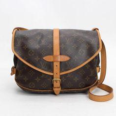 Louis Vuitton Saumur 30  Monogram Shoulder bags Brown Canvas M42256