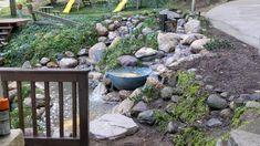 Japanese Garden Backyard, Small Backyard Ponds, Outdoor Ponds, Backyard Plan, Backyard Water Feature, Lawn And Garden, Backyard Landscaping, Outdoor Gardens, Outdoor Fountains