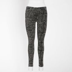 Motherboard leggings by roots x douglas coupland.