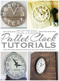 Round-up: 16 Pallet Clock Tutorials