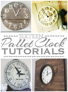 Round-up: 16 Pallet Clock Tutorials