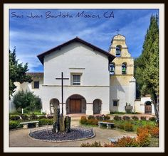 San Juan Bautista Mission, CA by Michael D Martin, via Flickr, mission # 15 of 21, built in 1797. California Missions, California Travel, San Juan Bautista Mission, Atascadero California, Mission Projects, Old Churches, Local History, Pacific Coast, Cathedrals