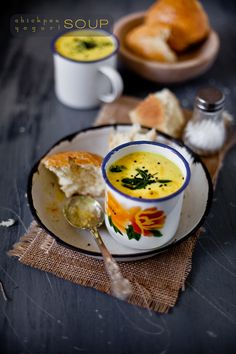 Chickpea yogurt soup