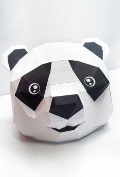 Paperized: Panda Head Papercraft