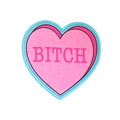Bitch Insultation Heart Iron On Patch. $10.00, via Etsy.