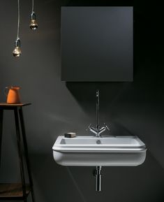 Discover the design world's best Bathroom Sinks at Perigold. Wall Mounted Bathroom Sinks, Undermount Bathroom Sink, Wall Mounted Vanity, Lavatory Faucet, Craftsman Bathroom, Rustic Bathrooms, Washbasin Design, Decorating With Pictures, Contemporary Bathrooms