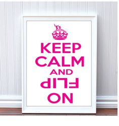 Cute Girls Keep Calm and Flip On Pink Gymnastics Gifts for Gymnasts on Etsy, $9.95
