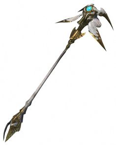 View an image titled 'Y'shtola's Thyrus Art' in our Dissidia Final Fantasy NT art gallery featuring official character designs, concept art, and promo pictures. Anime Weapons, Fantasy Weapons, Fantasy Adventurer, Singapore Garden, Dubai Garden, Rod And Staff, Garden Supply Online, Cool Swords, Sword Design