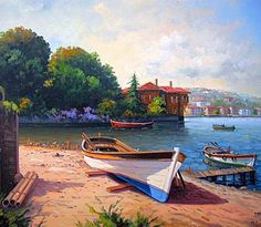 Sunny Morning Under A Mediterranean Sky; A Fishing Boat On Red Sand, Lying Idly By~ Google Search