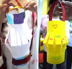 Light of the World craft idea- write things you can do to share the love of Jesus with others on the paper before you make the lantern.