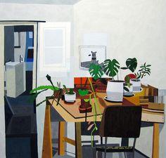 Artist Jonas Wood's Interiors Paintings