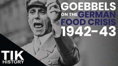 Joseph Goebbels's diary entries give an interesting account of the food crisis going on in Germany during the mid-war years. Joseph Goebbels, Operation Barbarossa, Diary Entry, S Diary, The Deed, The Third Reich, Military History, Germany, War