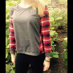 """Selling this """"FAB IN PLAID ($make an offer$)"""" in my Poshmark closet! My username is: cyncyn567. #shopmycloset #poshmark #fashion #shopping #style #forsale #Tops"""