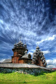 Kizhi pogost, Karelia, Rusia